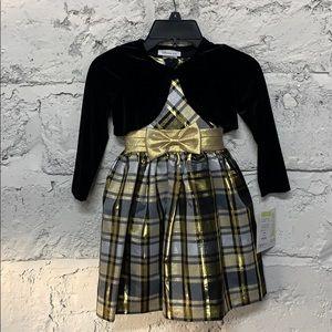 NWT Bonnie Jean Holiday Dress Set